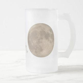 Tazas de encargo de la luna del vidrio de cerveza