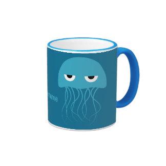 Tazas de encargo del monograma de las medusas