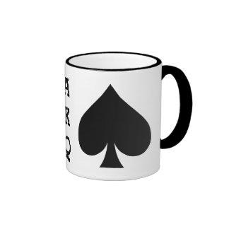 Tazas de encargo del monograma del jugador de