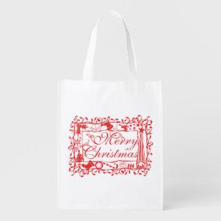 Tazas de encargo elegantes del estampado de flores bolsa reutilizable