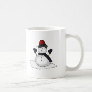 Tazas de la bebida del muñeco de nieve
