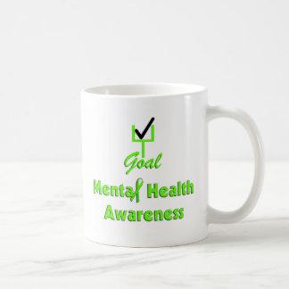 Tazas de la conciencia de la salud mental de la