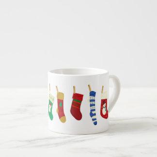 Tazas de la especialidad de las medias del navidad taza espresso