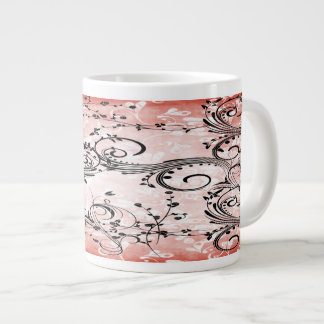 Tazas de la especialidad de las vides de la flor taza grande