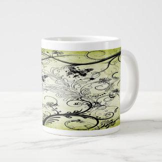 Tazas de la especialidad de las vides de la hoja taza grande