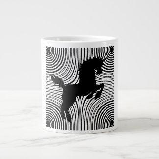 Tazas de la especialidad del unicornio del corte d taza grande