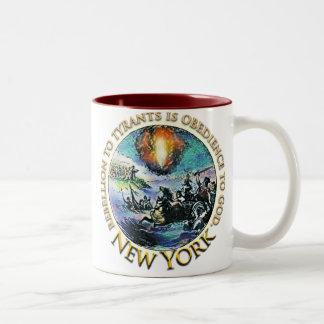 Tazas de la fiesta del té de Nueva York