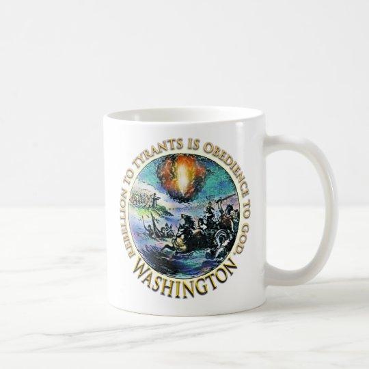 Tazas de la fiesta del té de Washington