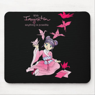 Tazas de la imaginación mouse pads