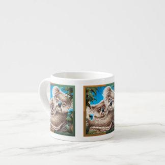 Tazas de la koala y de la especialidad del bebé taza espresso