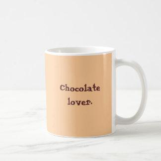 Tazas de la moca del amante del chocolate