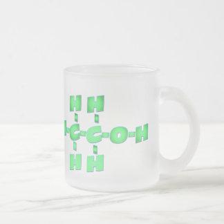 tazas de la molécula del alcohol