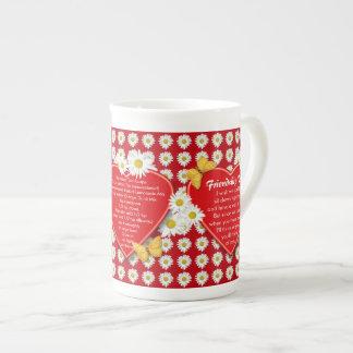 Tazas de la porcelana de hueso de la receta del té taza de porcelana