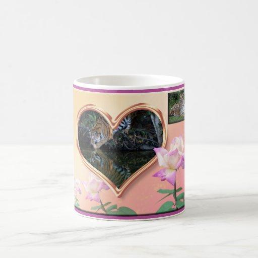 Tazas de la tarjeta del día de San Valentín del ti