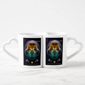Tazas de los amantes de la reina del Cyborg de Taza Para Enamorados