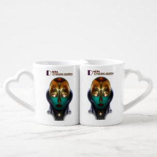 Tazas de los amantes de la tecnología de la reina tazas para enamorados