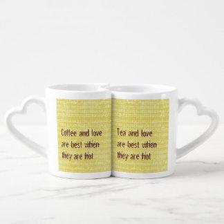 Tazas de los amantes del amor del té del café taza amorosa