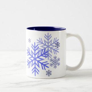 Tazas de los copos de nieve