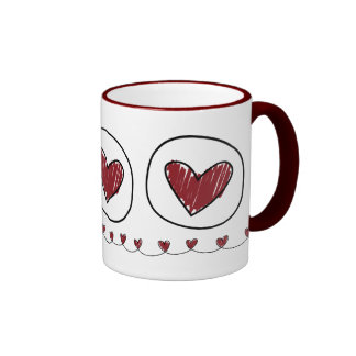 tazas de los corazones
