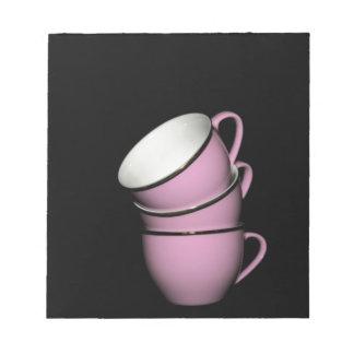 Tazas de té bloc de notas