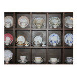 Tazas de té postal
