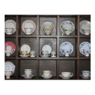 Tazas de té tarjetas postales