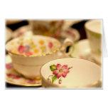 Tazas de té tarjetas