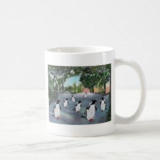 Tazas de Winterwonderland del pingüino