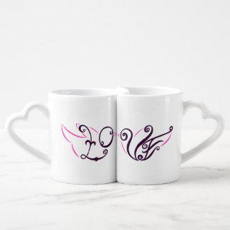 Tazas del amor de los pájaros del amor