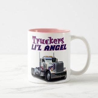 Tazas del ángel de L'il del camionero