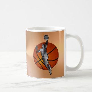 Tazas del baloncesto, jugador metálico en bola del