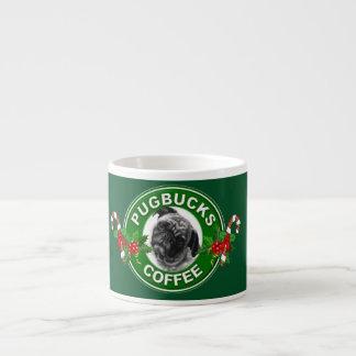 Tazas del café express del café de Pugbucks Tazitas Espresso
