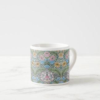 Tazas del café express del estampado de flores de taza espresso