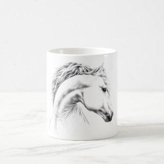 Tazas del dibujo de lápiz del retrato del caballo