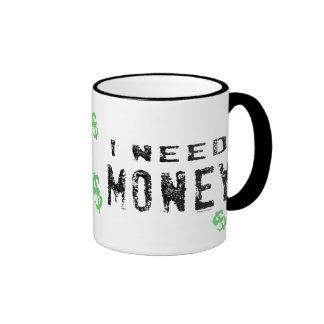 Tazas del dinero de la necesidad