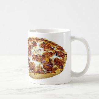 """""""Tazas del diseño de la pizza de salchichones"""" Taza Clásica"""