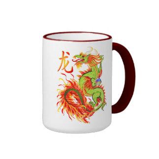 Tazas del dragón y del símbolo del Año Nuevo