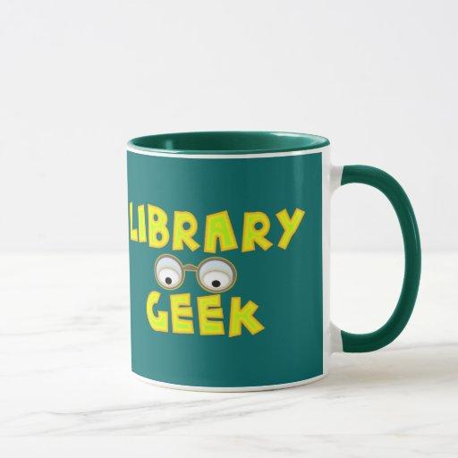 Tazas del friki de la biblioteca