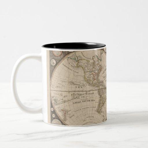 Tazas del mapa de Viejo Mundo