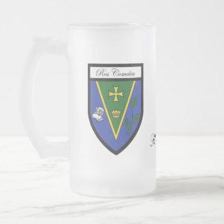 Tazas del mapa y del escudo de Roscommon del