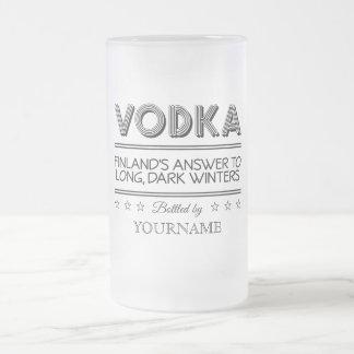 Tazas del personalizado de la VODKA