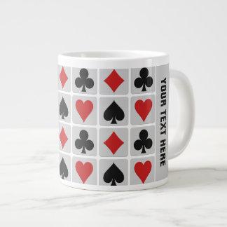 Tazas del personalizado del jugador de tarjeta taza grande