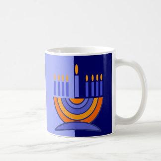 Tazas del regalo de Jánuca del diseño de Menorah