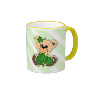 Tazas del regalo del día de peluche de St Patrick