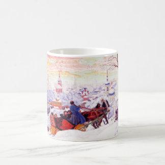 Tazas del regalo del navidad de la bella arte de