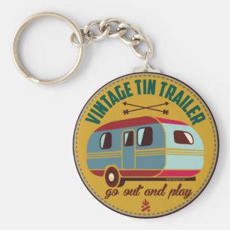 ¡Tazas del remolque del vintage/del campista del Llavero Redondo Tipo Pin