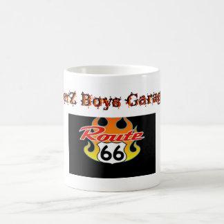 Tazas del rt 66 del garaje de los muchachos de Jer