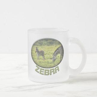 Tazas del safari de la fauna de la cebra y del pot