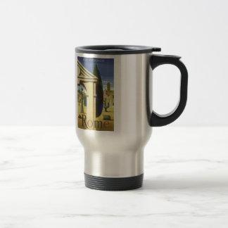 Tazas del viaje de Roma del vintage