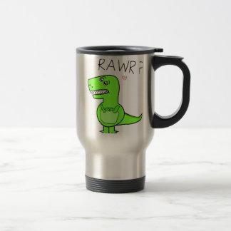 Tazas del viaje del dinosaurio de T-Rex Rawr